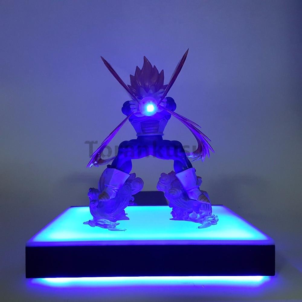 Dragon Ball Z Vegeta Super Saiyan Led Beleuchtung Basis Anime Dragon Ball Z  DBZ Vegeta Sammlung Modell Spielzeug Figur Led Display