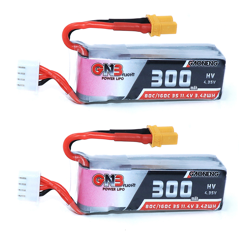 2PCS Gaoneng GNB 300mah 3S 11.4V 80C/160C HV Lipo Battery With XT30 Plug For BETAFPV Beta75X 3S Beta65X 2S Whoop Drones parts image