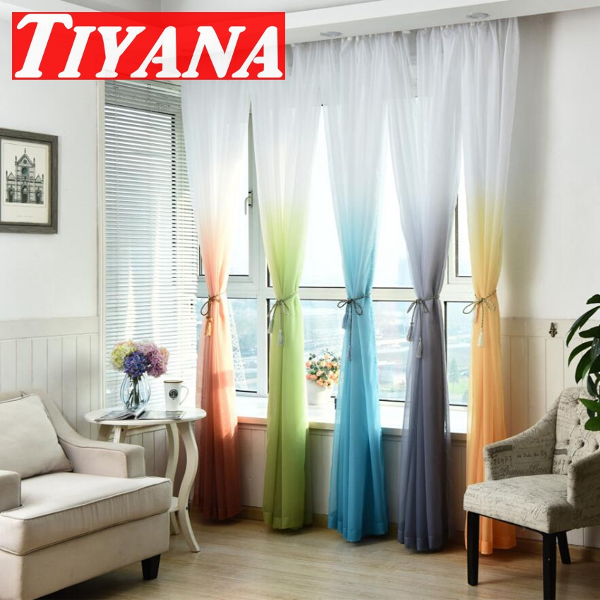 sheer cafe curtains for living room arranging furniture in a small narrow fashion terylene tulle window screening blinds voile ...