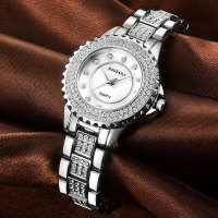 The New BAOSAILI Alloy Diamond Quartz Watch Fashion Lady Waterproof Watch