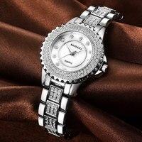 The New BAOSAILI Alloy Diamond Quartz Watch Fashion Lady Waterproof Watch