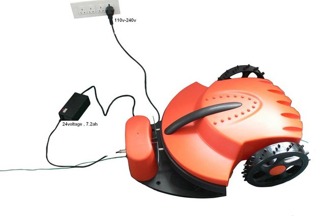 100m Virtual Wire/The Cheapest Robot Auto Lawn Mower+Remote Controller+Li-ion Battery