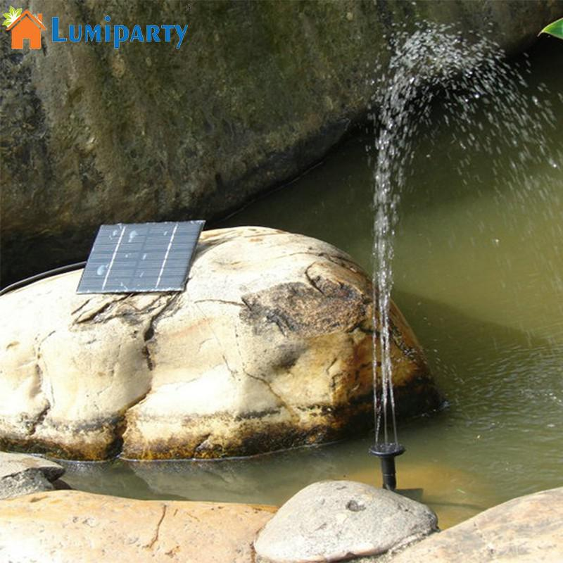 LumiParty Solar Powered Fountain Dc Fountain Set Pump for Pond Garden Decoration