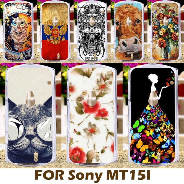 AKABEILA DIY Painted Plastic Case For Sony Ericsson Xperia Neo V MT11ia MT11i MT15i MT15 MT11 Phone Cover Protective Shell