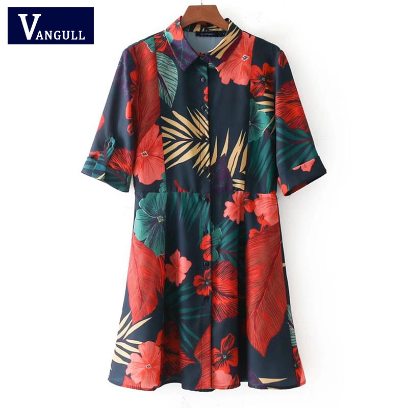 14189090a44 Женские платье с цветочным рисунком Vestido элегантные дамы с коротким  рукавом Мини Mulheres vestidos летние модные