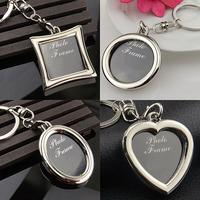 Creative Mini Heart Square Round Oval Insert Photo Frame Rotary Keychain Keyring smt 102