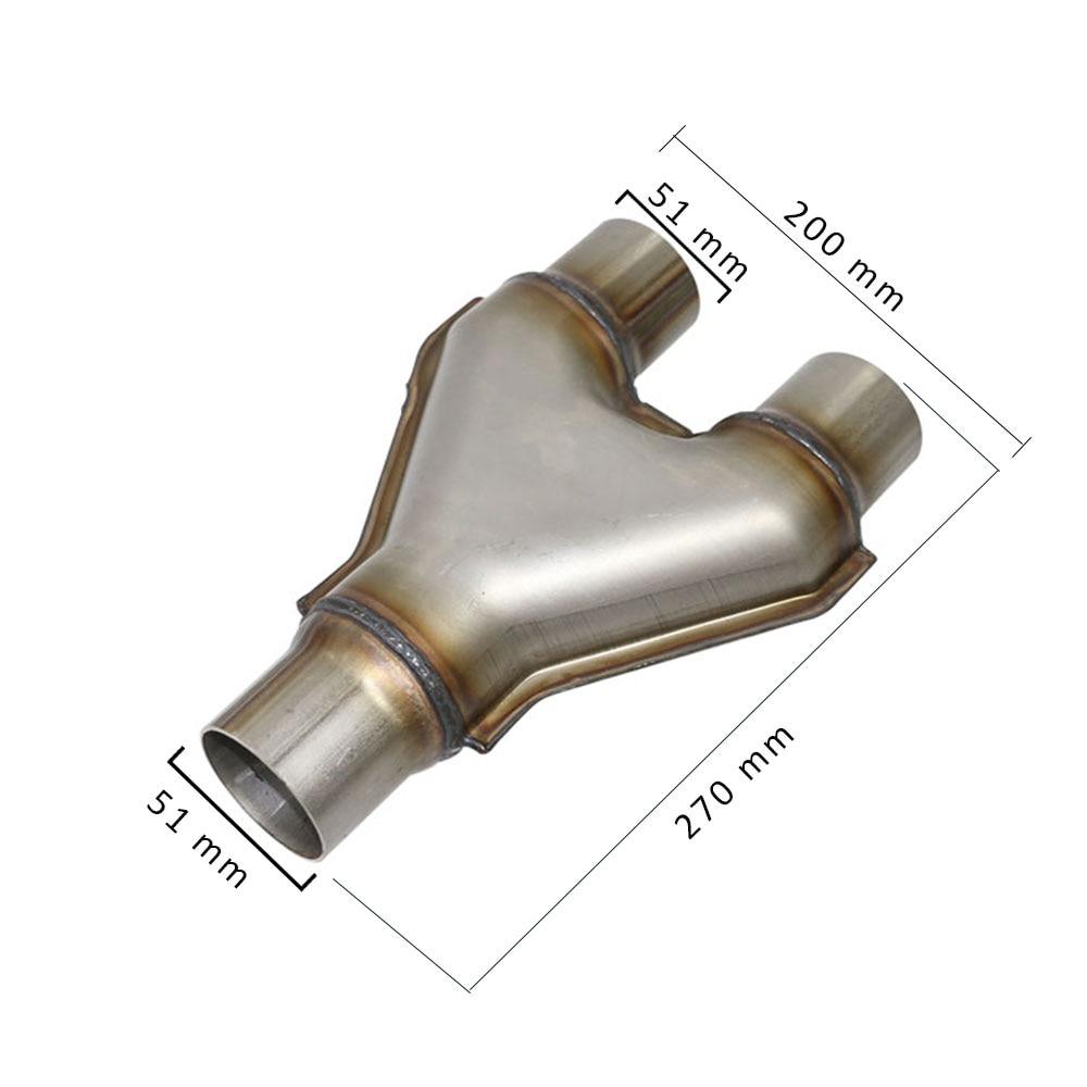 Бесплатная доставка Высококачественная нержавеющая сталь 201 выхлопная Y PIPE автомобиля 2