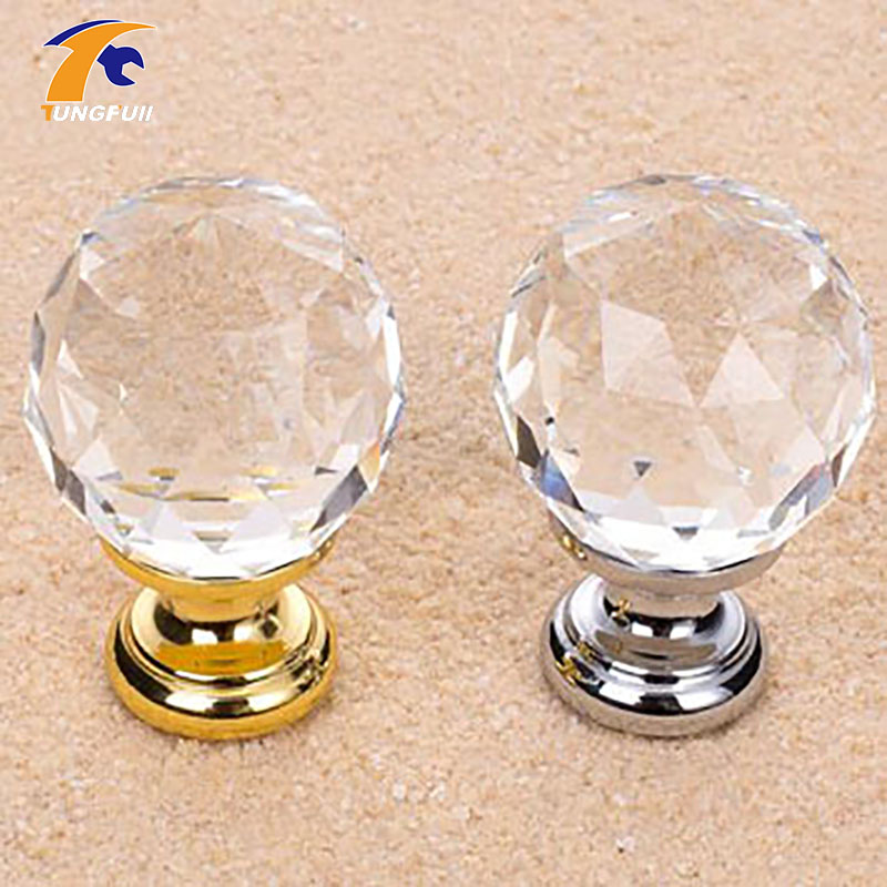 5PCS 30mm Round Clear Crystal Sparkle Diamond Cabinet Knobs And Handles Dresser Drawer Handles Door Knob css clear crystal glass cabinet drawer door knobs handles 30mm