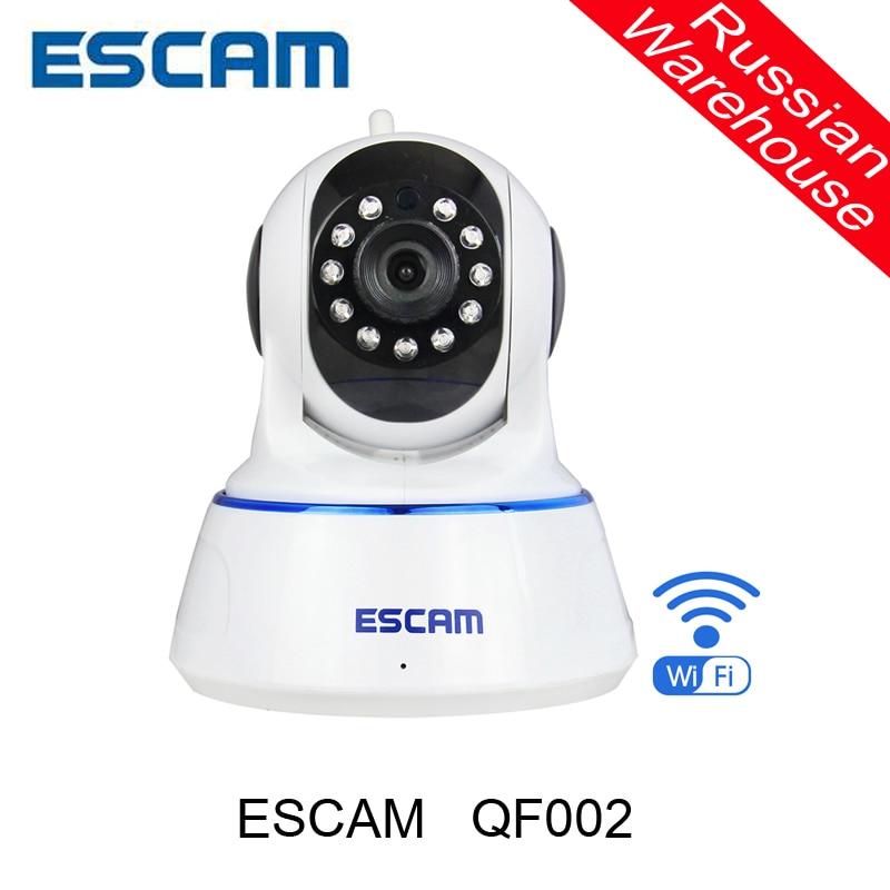 Escam QF002 Indoor Network WIFI IP font b Camera b font infrared 720P support IR Cut