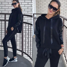 Zogaa 2019 New Spring Autumn Tracksuit Women Two Piece Set Hooded Tops + Pants Sports Suits Female Korean Casual Clothing