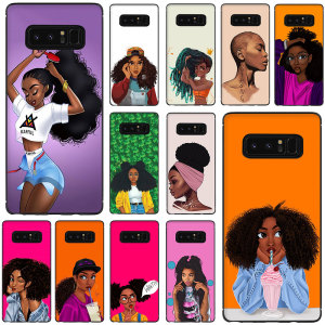 African Beauty girl Soft TPU Phone Case for Galaxy M10 M20 M30 S6 S7 Edge S8 S9 S10 S10e Plus Note 10 8 9(China)