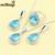 Caliente-venta de La Gota de Agua Azul Creado Topacio Blanco Circón 925 Anillo de Plata de La Joyería Tamaño 6/7/8/9/10 Regalo de Navidad Para Las Mujeres