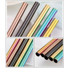 UPORS Extra Wide Straw Reusable 304 Stainless Steel Drinking Straw Metal Straw For Smoothies Tapioca Pearls Milk bubble Tea 2Pcs