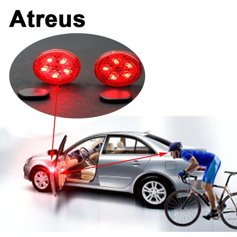 Atreus For Lexus Honda Civic Opel astra h j Mazda 3 6 Kia Rio Ceed Volvo Car Door Warning Signal Crash Strobe Light 5LED Sticker