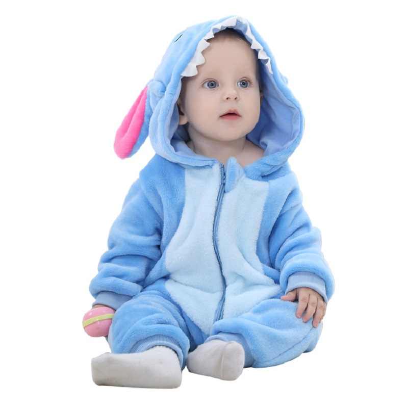 6d4222e06 2016 Winter Cute Baby animal Rompers Warm Stitch Cat Panda Rabbit Baby  Clothes Flannel Baby Girls boys Clothes Cartoon Jumpsuit on Aliexpress.com  | Alibaba ...