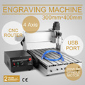 USB 4 Axis 3040T Milling Machine Engraving Machine CNC Router Engraving Cutting Popular