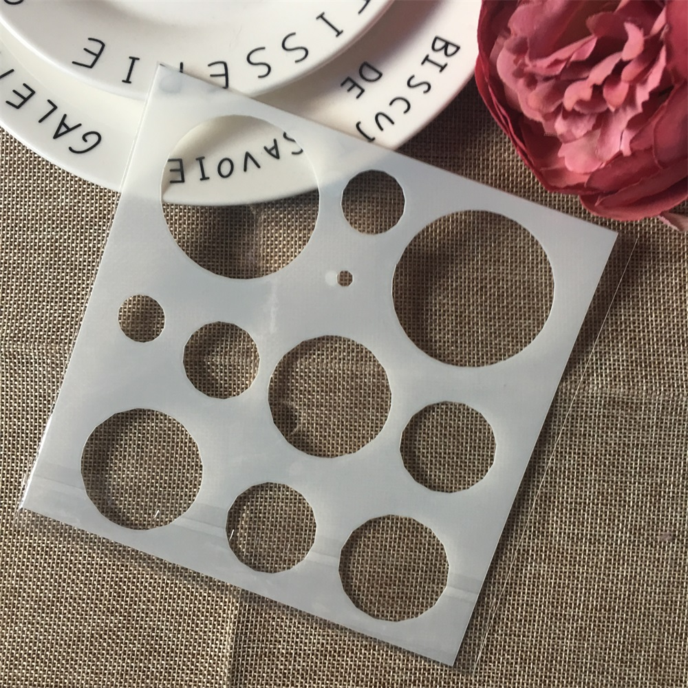 1Pcs 15cm Dot Circle Design 96 DIY Layering Stencils Wall Painting Scrapbook Coloring Embossing Album Decorative Card Template