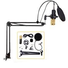 Профессиональный проводной микрофон BM800, студийный конденсаторный микрофон с разъемом 3,5 мм, микрофон для записи вокала, конденсаторный микрофон для караоке, микрофон с подставкой для компьютера