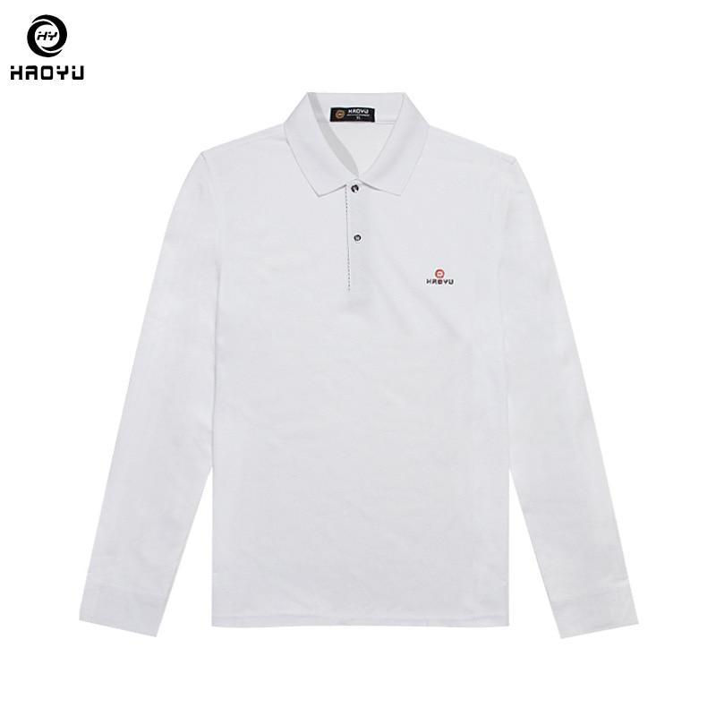 Männer Marke Kleidung Solide Polo Shirt New Fashion Langarm-regular Helle Schöne 11 Farbe Wahl Großverkauf der Fabrik Haoyu