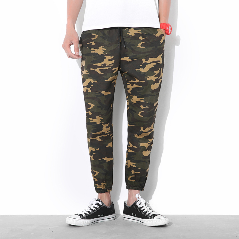 2018 Mens Joggers Pants 2018 Brand Male Cargo Pants Solid Slim Camouflage Tights Trousers Compression Men Jogger XXLYAOFEN