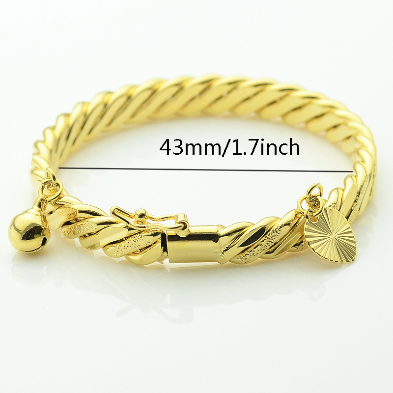 yellow bangle in bracelet gold twisted