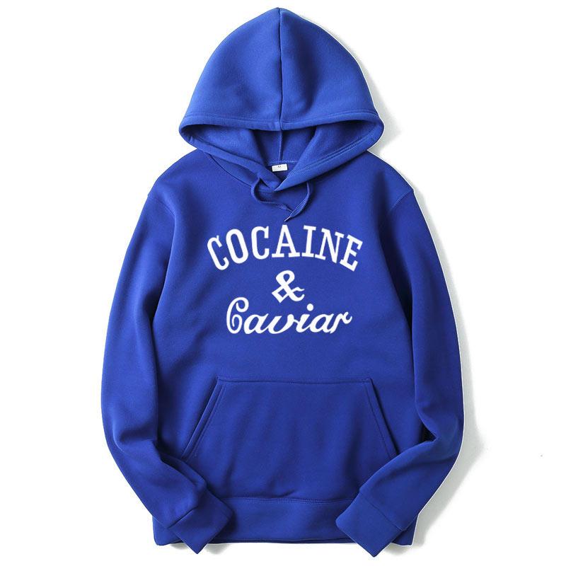 RUMEIAI 2018 New Cocaines & Caviar Hoodies Men Hip Hop Hoodies Sweatshirts Fashion New Design Mens Casual Brand Clothing