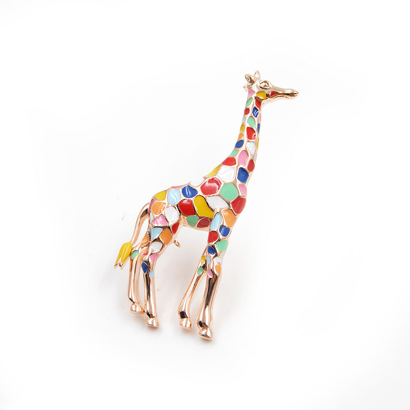 CINDY XIANG Enamel Giraffe Brooches for Women Cute Animal Brooch Pin Fashion Jewelry Gold Color Gift For Kids Exquisite Broches 3