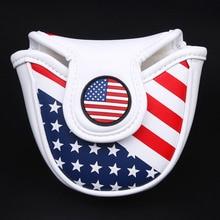 Siranlive Golf Malletฝาครอบพัตเตอร์พร้อมMagnetic Closure Golf Headcover USA Flagจัดส่งฟรี