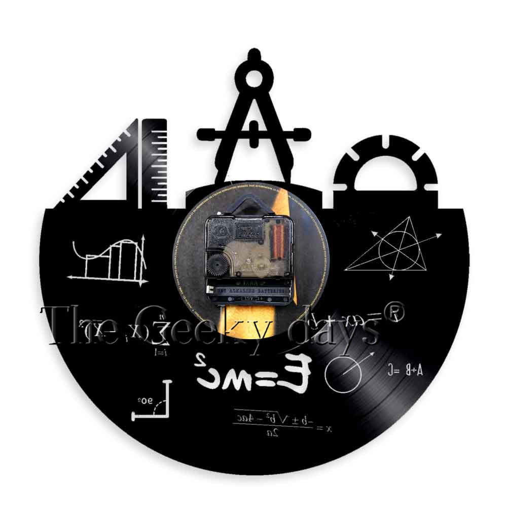 Math Formula Wall Art Wall Clock Vinyl Record Clock Pythagorean Theorem Class Room Quadratic Formula Wall Decor Teachers Gift
