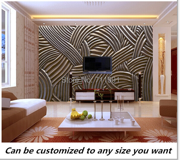 Free shipping custom 3D Ornate Texture Wall Mural modern mural