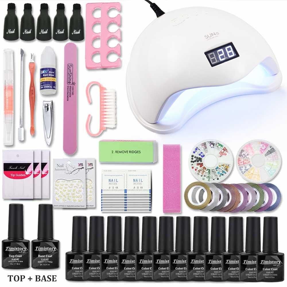 72 54 48W Led Nail Lamp Nail Set 12 Color 8ml nail gel polish set manicure