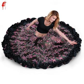 a new professional belly dance costume skirt dress with a wave skirt women printing skirt Tango skirt