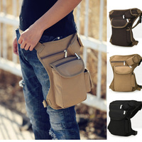 Outdoor Sport Tactical Canvas Drop Waist Leg Bag Waist Pocket Men Running Belt Bicycle Motorcycle Money