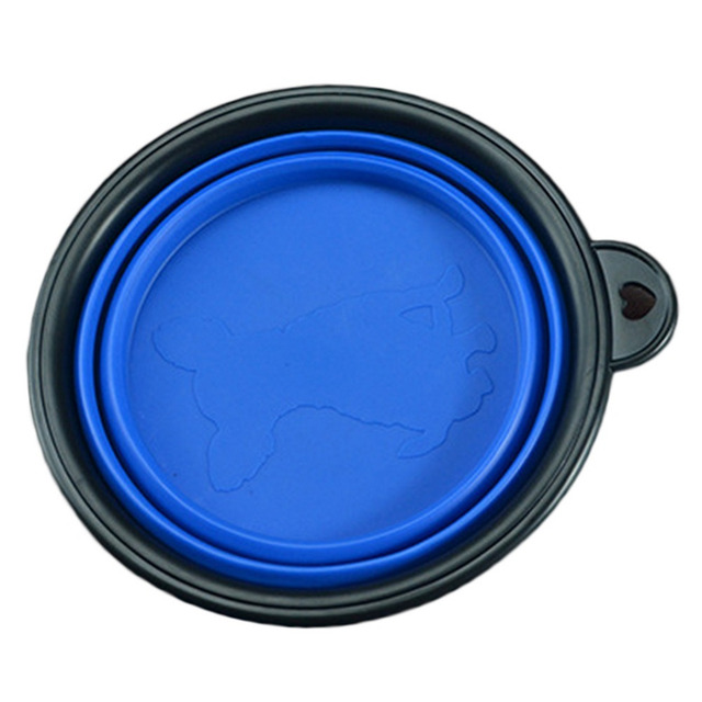 New Collapsible foldable silicone dog bowl candy color outdoor travel portable puppy doogie food container feeder dish on sale 4