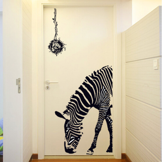 Zebra Horse Vinyl Wall Sticker Cavalo Wallpaper Animal Poster Decal Door  Home Decor Vinilo Pegatina Adesivo Parede Decoracao In Wall Stickers From  Home ...