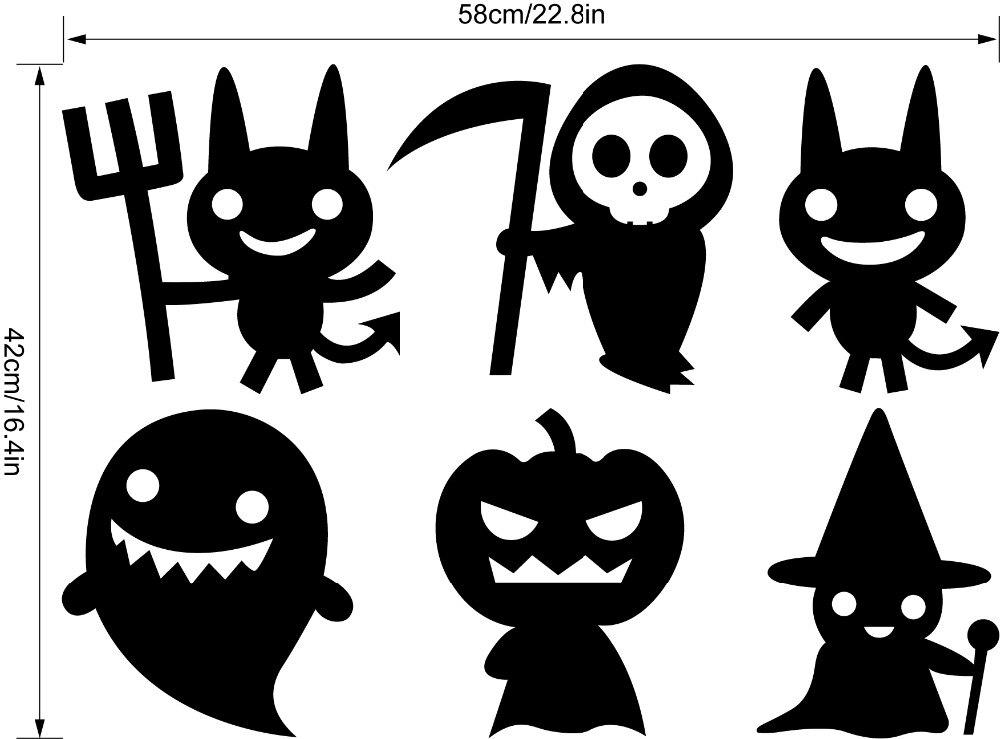 Halloween Wall Art aliexpress : buy 9432 halloween wall stickers for fridge