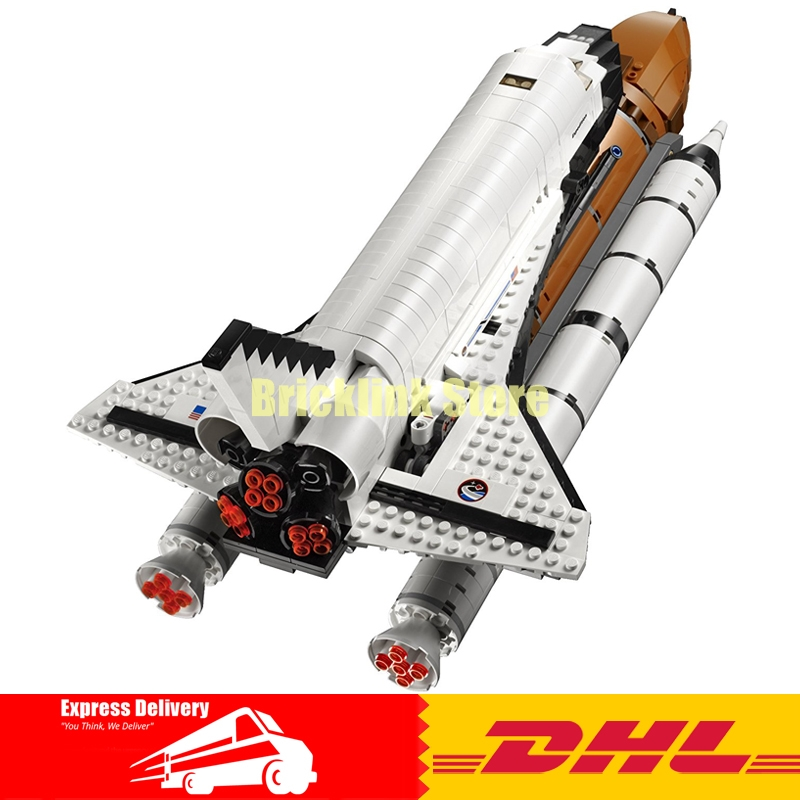 купить IN Stock 2017 New LEPIN 16014 1230Pcs Space Shuttle Expedition Model Building Kits Set Blocks Bricks Children Toy 10231 недорого