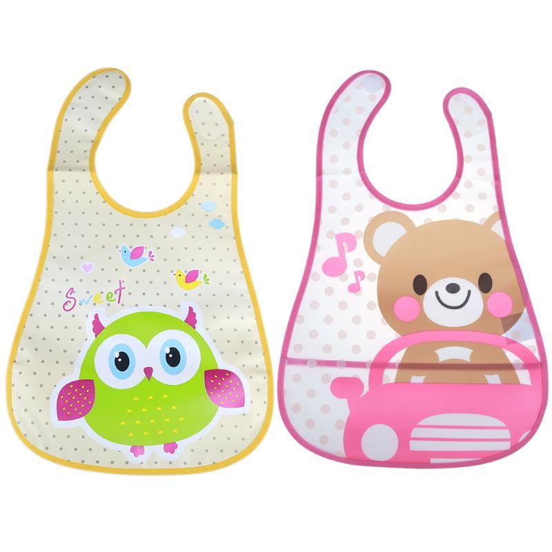 Cute Cartoon Baby Kids Bibs Waterproof EVA Saliva Towel Newborn Kids Feeding Bandana Apron Infant Boys Girls Bibs Burp Cloth