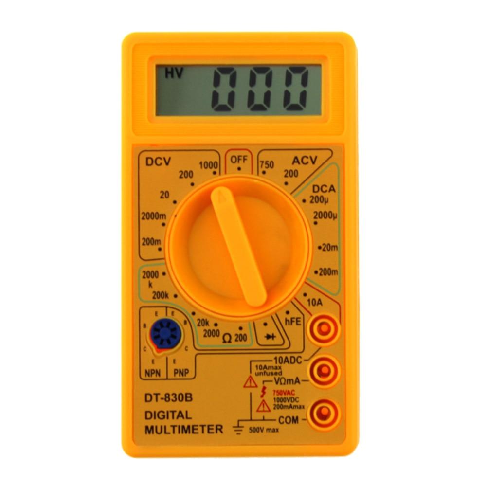 DT-830B skaitmeninis multimetras, elektroninis testeris, 0,5 colio - Matavimo prietaisai - Nuotrauka 3