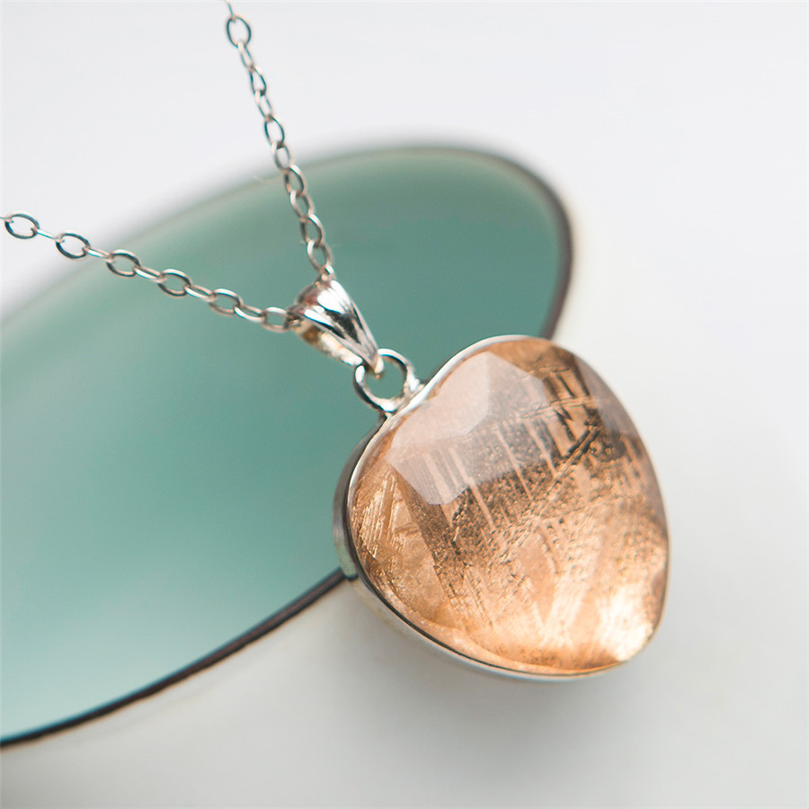 Natural Gibeon Meteorite Crystal Shape Gemstones Pendant