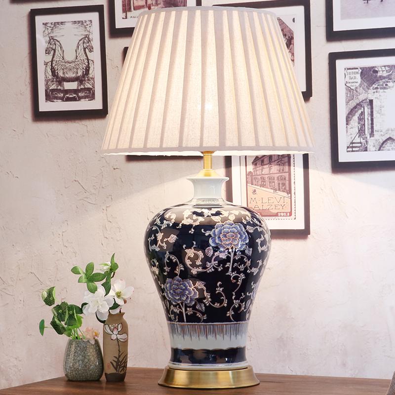 Blau Porzellan Lampen-kaufen Billigblau Porzellan Lampen Partien ... Vintage Wohnzimmer Blau