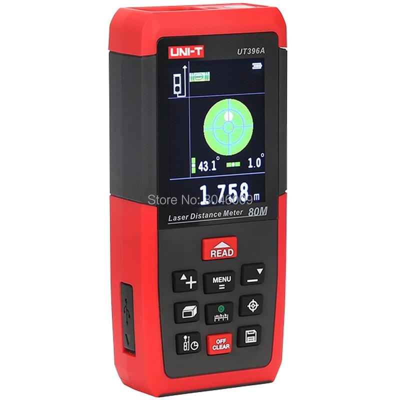 UNI-T UT396A 80 M professionnel couleur laser télémètre électronique niveau données stockage caméra auxiliaire USB fonction de connexion - 3