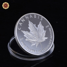 WR One Troy Oz Silver Canada Fine Gold 1OZ Coin Elizabeth II 50 Dollars Coin Canadian Maple Leaf Coin Metal Collecting(China)