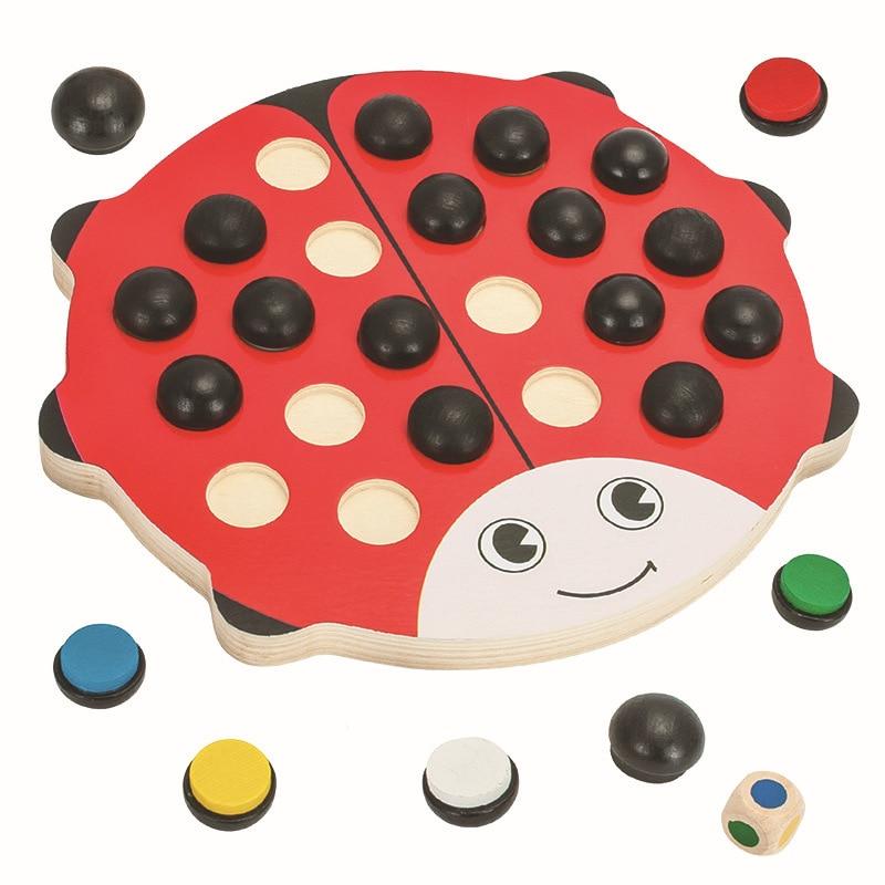 Baby Wooden Beetles Memory Chess Red Board 22 дана. - Дизайнерлер мен құрылыс ойыншықтары - фото 5
