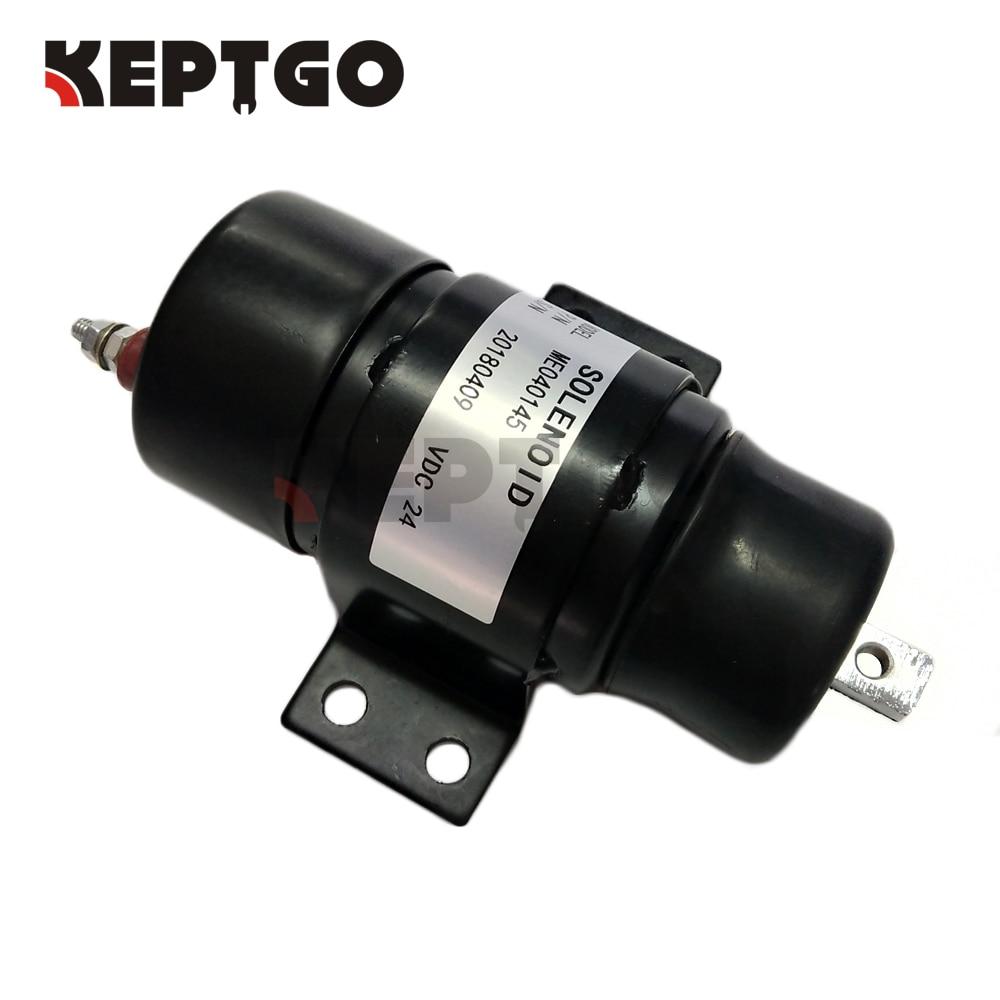 ME040145 24v Stop Solenoid For Kato HD800 HD900 HD250 HD450 Excavator 053400-73500 053400-1461 053400-0745