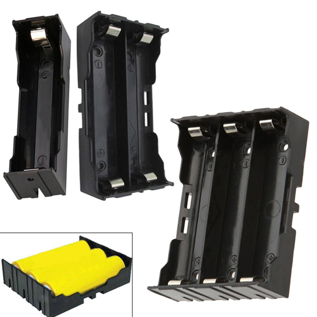 1PCS Plastic Battery Holder Storage Box Case For 2x 18650 Rechargeable Battery