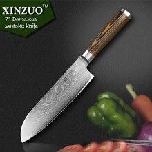 XINZUO 7″ inch Japanese chef knife Damascus steel kitchen knives sharp japanese VG10 santoku knife wood handle free shipping