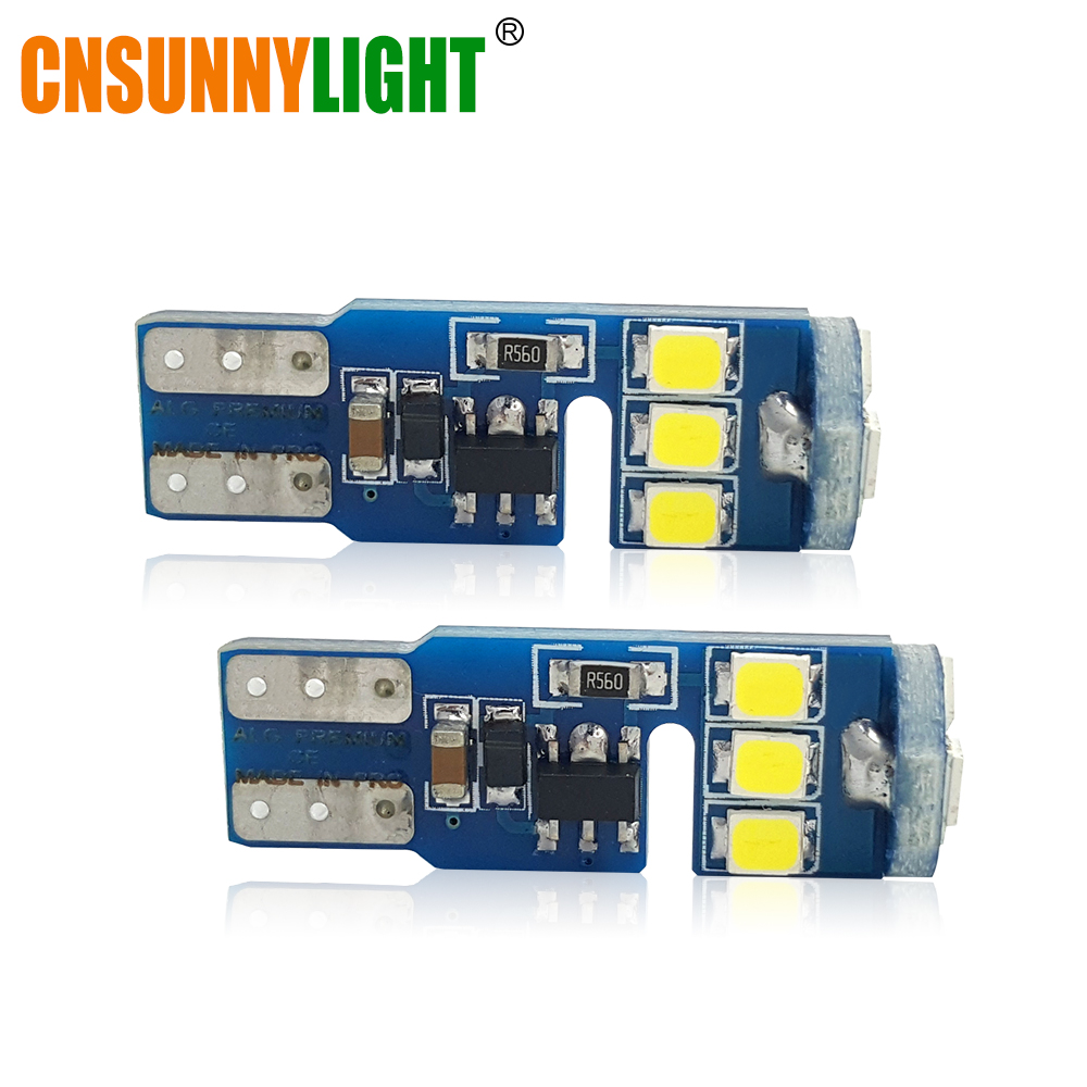 CNSUNNYLIGHT T10 W5W Canbus No Error 2835 9SMD LED <font><b>Light</b></font> Wedge Bulbs High Power Led Car Parking Fog Auto Clearance Lighting 12V