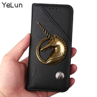 YeLun Unicorn Case For Sony Xperia XA Ultra Case Flip Wallet PU Leather Case Cover High