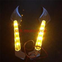 Motorcycle LED Turn signal Sickle mirrors fit for Hond CBR954RR CBR1000RR CHROM
